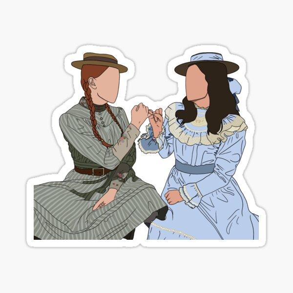 anne n diana: anne with an e Sticker