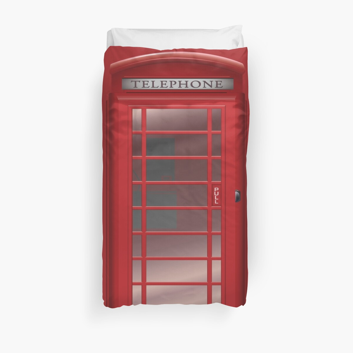 London Red Phone Booth Box  by CroDesign