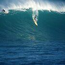 Flying Waimea Bay by kevin smith  skystudiohawaii