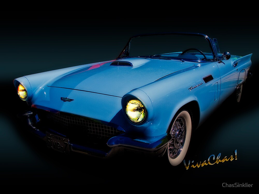 57 T-Bird Convertible in Powder Blue by ChasSinklier
