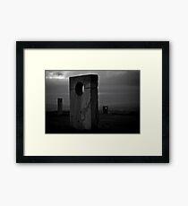 Monuments atop Haughmond Framed Print
