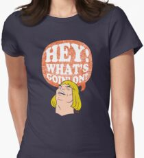 HEY-Man Women's Fitted T-Shirt
