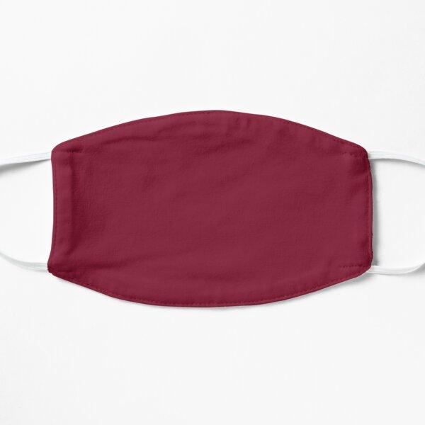 classy romantic wine red plum burgundy Flat Mask