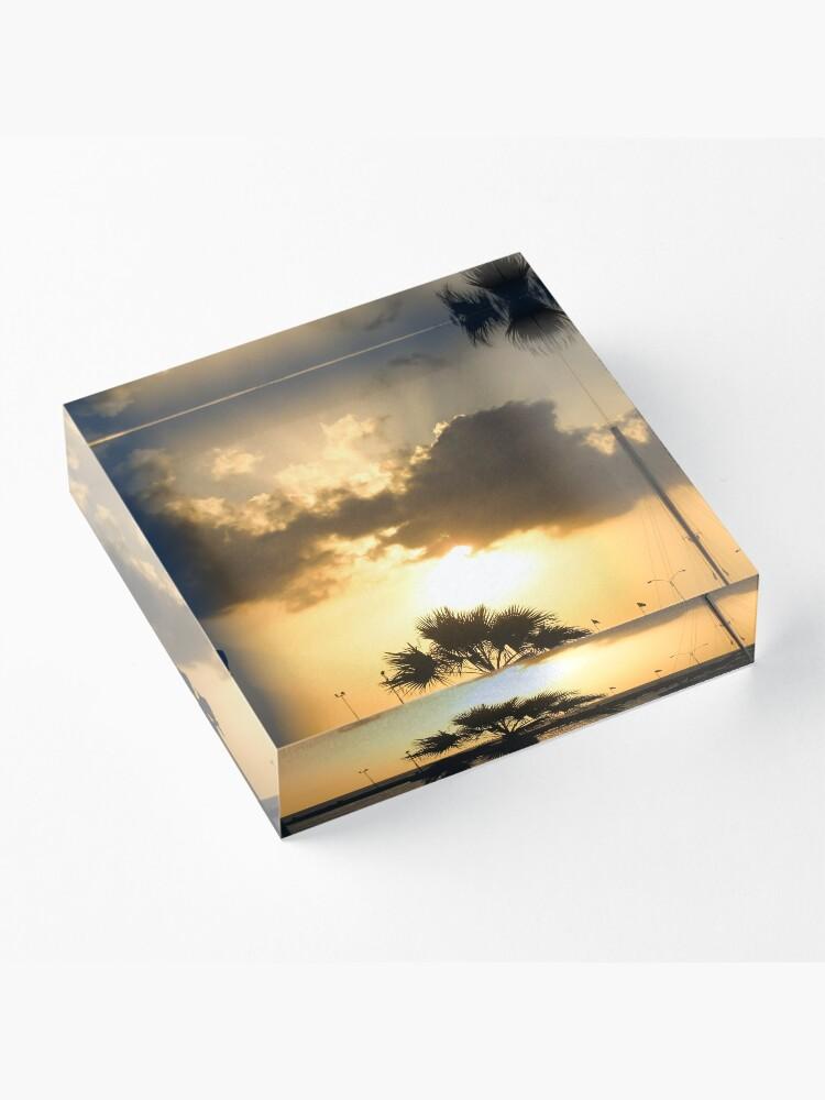 Alternate view of Aruba Caribbean sunset Acrylic Block