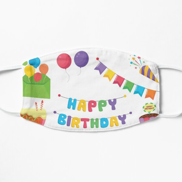 birthday party pack Flat Mask