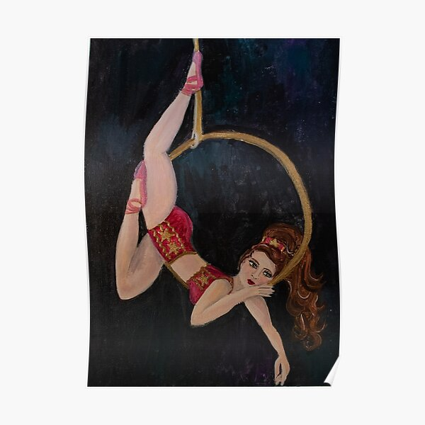 Vintage Aerial Circus Girl Poster