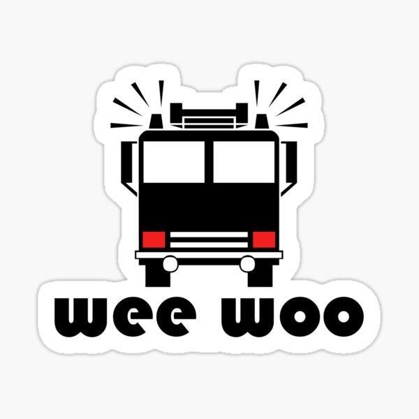 Wee Woo Firetruck Sticker