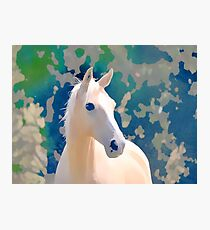 Horse watercolour  Photographic Print