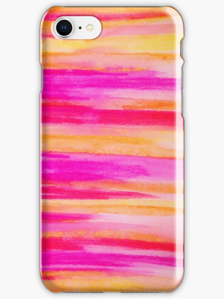 Welcome to Funky Town - Disco Inferno Dance Rainbow Stripes Abstract Watercolor Painting by EbiEmporium