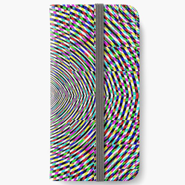 Visual arts, Optical illusion, Concentric Circles, Geometric Art, - концентрические круги iPhone Wallet