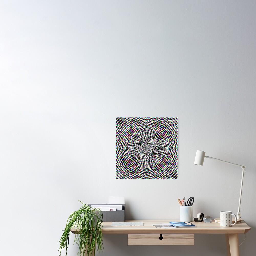 Visual arts, Optical illusion, Concentric Circles, Geometric Art, - концентрические круги Poster
