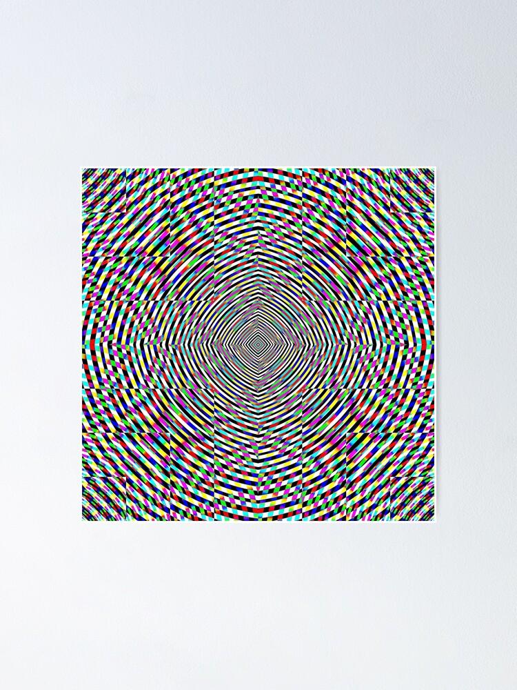 Alternate view of Visual arts, Optical illusion, Concentric Circles, Geometric Art, - концентрические круги Poster