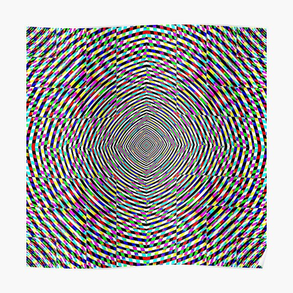 Visual arts, Optical illusion, Concentric Circles, Geometric Art, - концентрические круги Poster