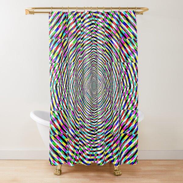 Visual arts, Optical illusion, Concentric Circles, Geometric Art, - концентрические круги Shower Curtain
