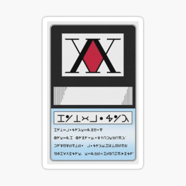 Hunter x Hunter - Hunter License Card Sticker