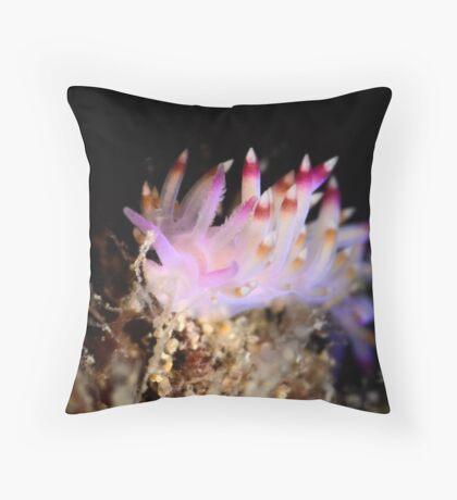 Flabellina sp Throw Pillow