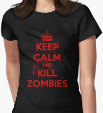 Keep Calm and Kill Zombies Womens Fitted T-Shirt