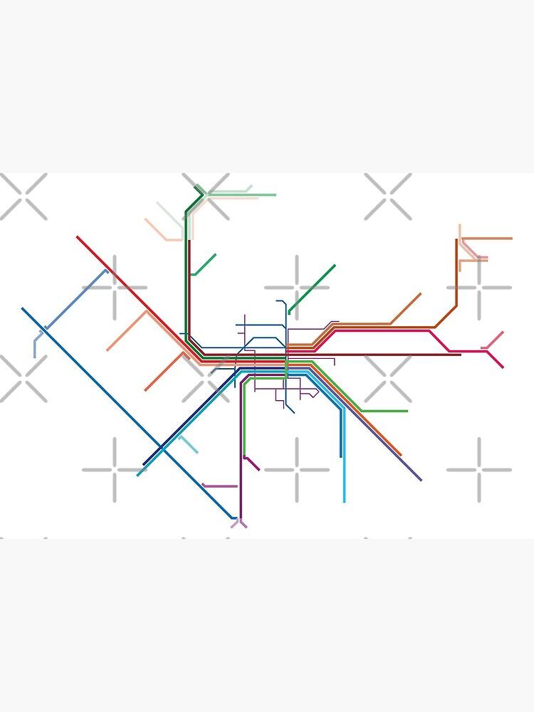 Nuremberg Rail Map by in-transit