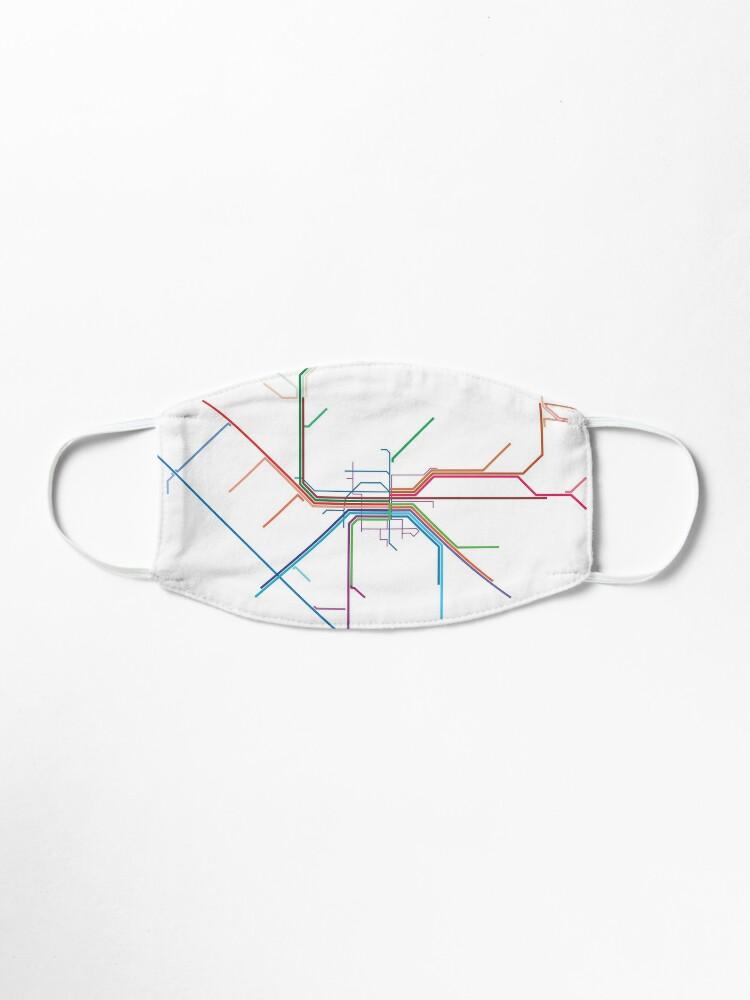 Alternate view of Nuremberg Rail Map Mask