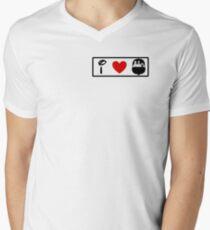 I Heart Haunted Mansion (Classic Logo) Mens V-Neck T-Shirt