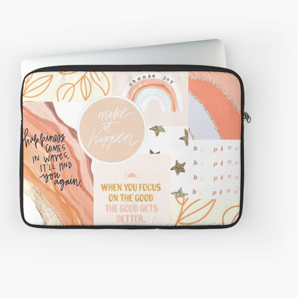 Aesthetic Orange and Pink Collage Laptop Sleeve