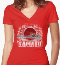 Battleship Yamato Women's Fitted V-Neck T-Shirt