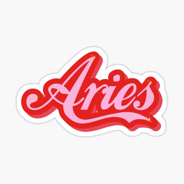 Aries vintage font by gabyiscool  Sticker