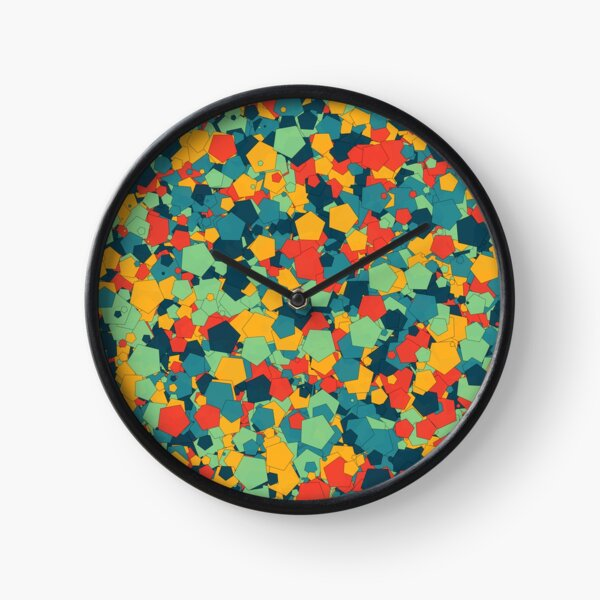 Colorful Pentagons by Jerome Herr Clock