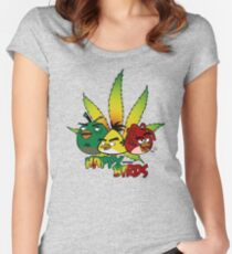 Happy Birds Women's Fitted Scoop T-Shirt