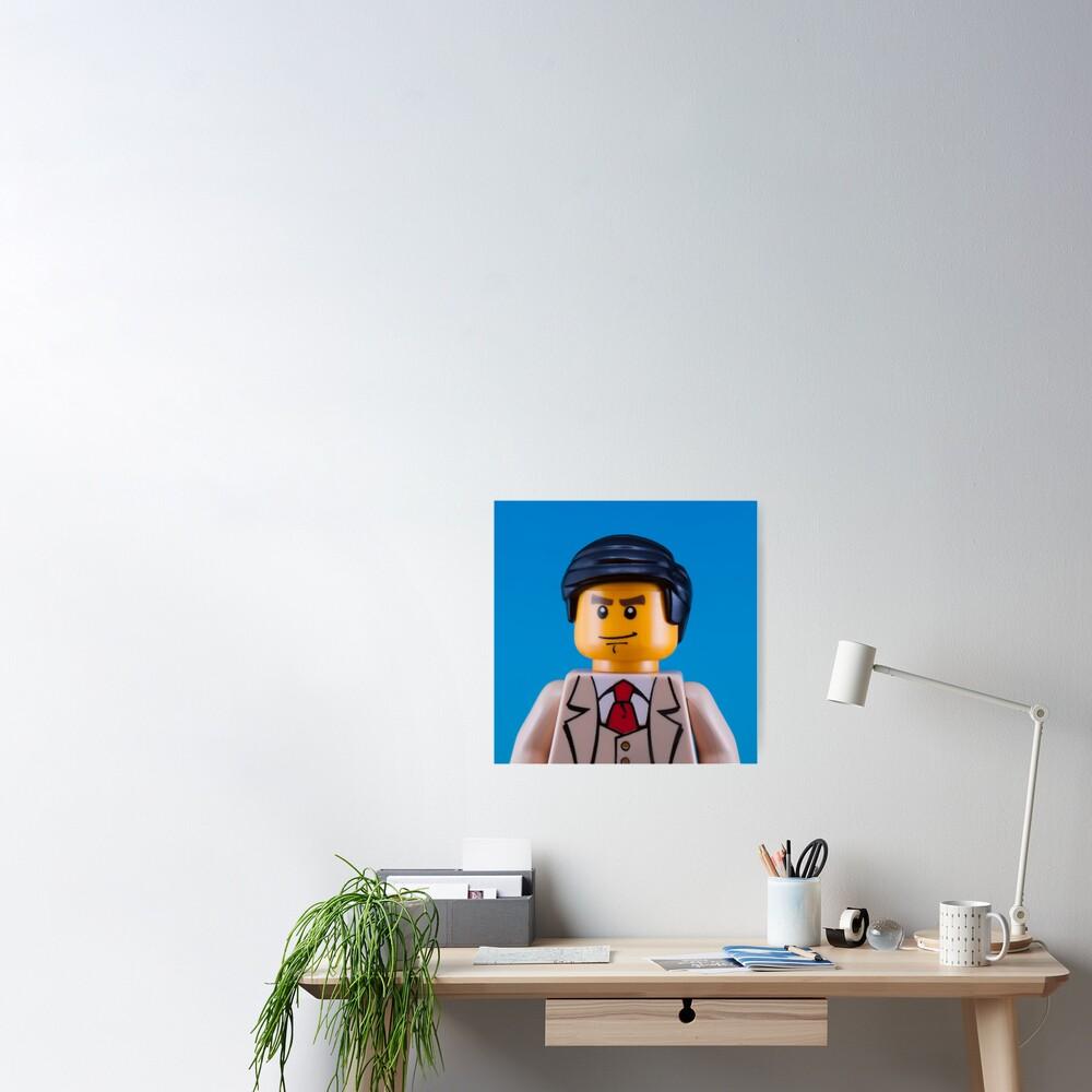 Alan Turing Portrait Poster