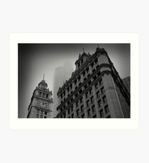 Chicago in the Mist Art Print
