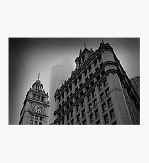 Chicago in the Mist Photographic Print