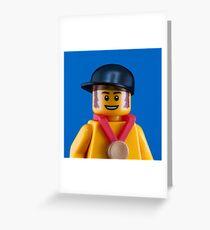 Bradley Wiggins Portrait Greeting Card