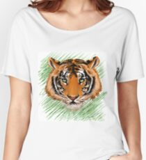 The tiger   Women's Relaxed Fit T-Shirt