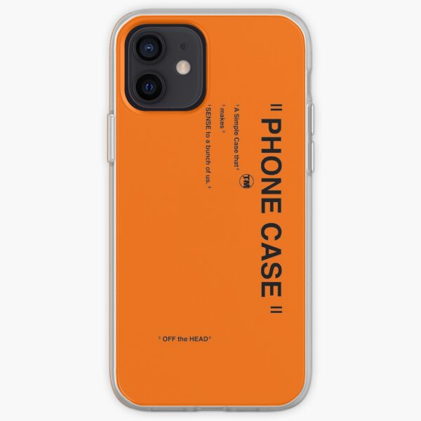 Offwhite inspired phone case for every phone, orange edition iPhone Soft Case