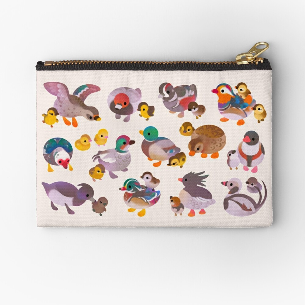 Duck and Duckling Zipper Pouch