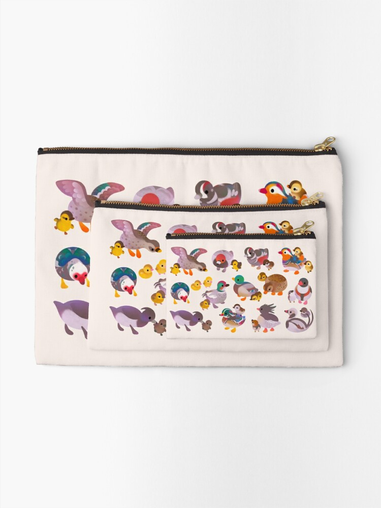 Alternate view of Duck and Duckling Zipper Pouch