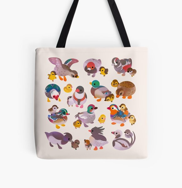 Duck and Duckling All Over Print Tote Bag