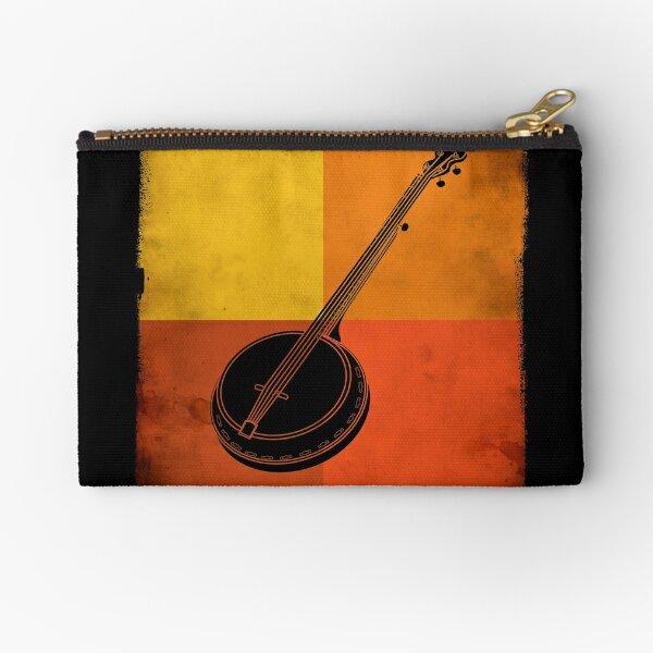 Retro Vintage Banjo Instrument Zipper Pouch