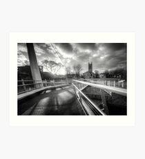 Derby Cathedral Footbridge Art Print