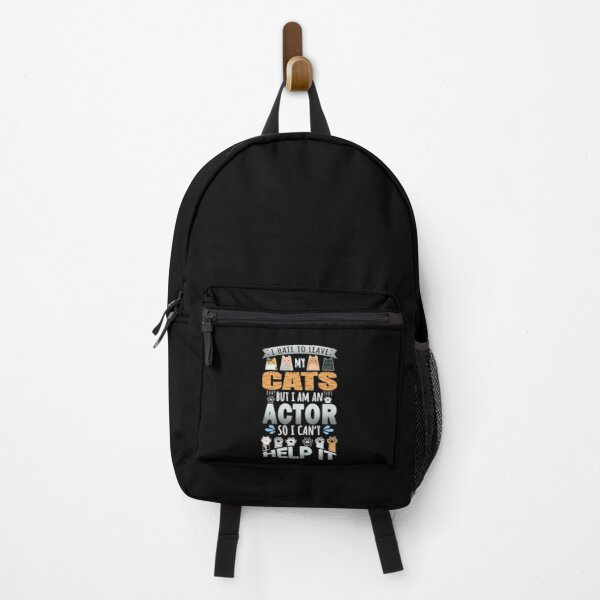 Actor Cat Lover Can't Help It Quote Design Backpack