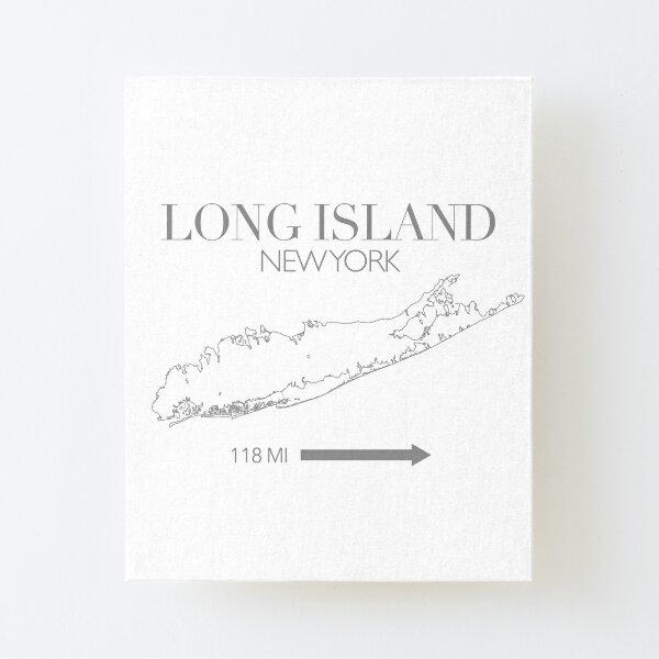 Long Island Map Canvas Mounted Print