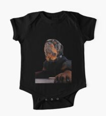 Regal and Proud Male Rottweiler Portrait Isolated Kids Clothes