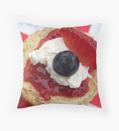The Great British Scone Throw Pillow