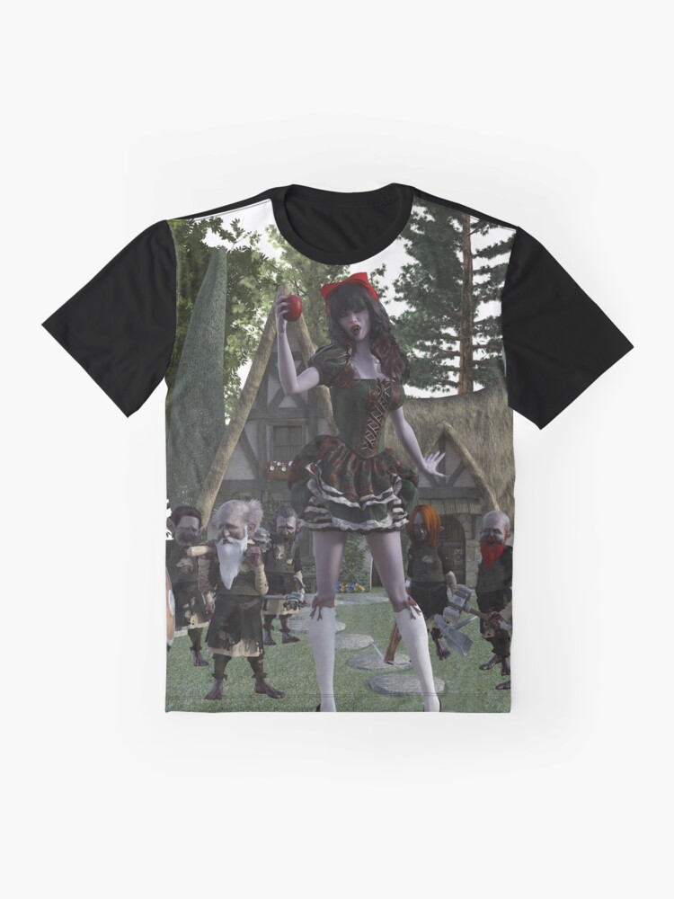 Alternate view of Ghastly Wicked Tales: Vampire Crimson Snow & The 7 Zombies Graphic T-Shirt