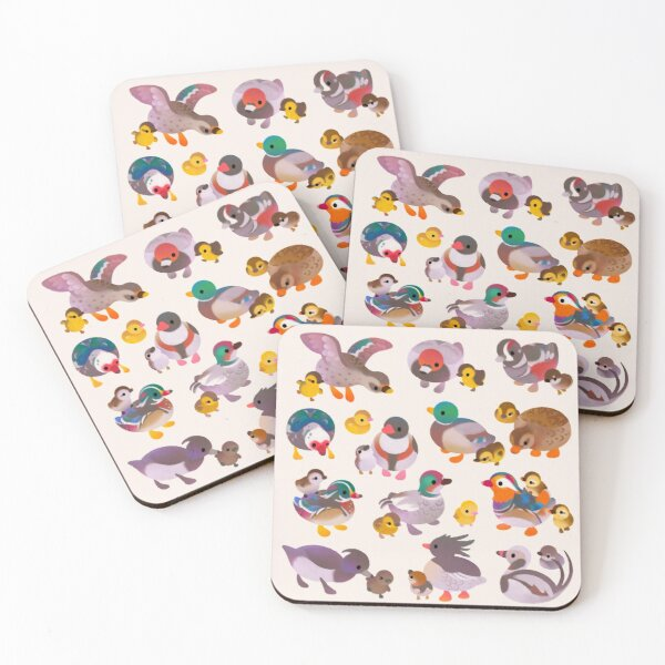Duck and Duckling Coasters (Set of 4)