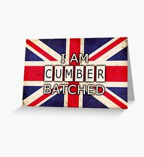 I AM CUMBERBATCHED (UK Edition) Greeting Card