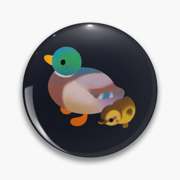 Duck and Duckling - dark Pin