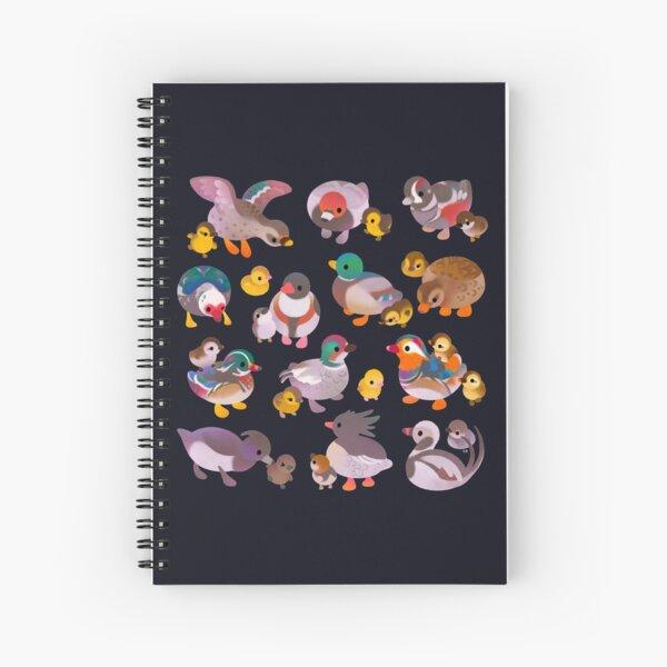 Duck and Duckling - dark Spiral Notebook
