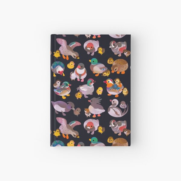 Duck and Duckling - dark Hardcover Journal